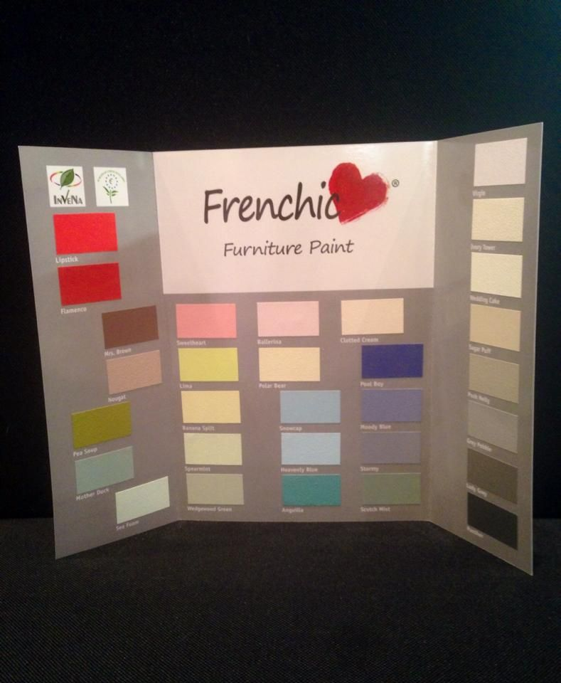 The Frenchic Colour Chart From Frenchic Furniture Paint Register Or Buy Now For Your Chance To Win A Fre Paint Color Chart Painted Furniture French Chic Paint