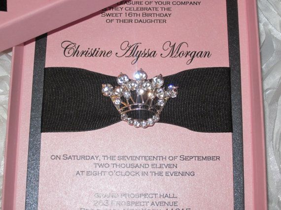 The Christine - Sweet Sixteen Princess Keepsake Invitation Box - fresh invitation letter for birthday debut