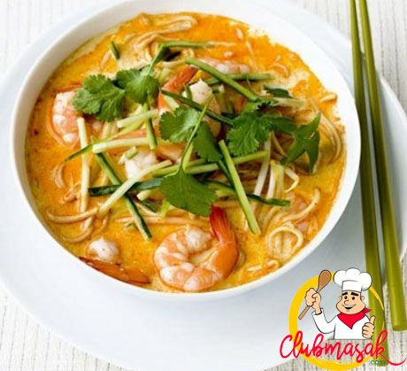 Resep Mie Laksa Khas Betawi Resep Laksa Resep Masakan Resep Makanan Resep Masakan Asia