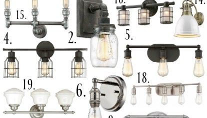 Farmhouse Bathroom Light Fixtures Prepossessing Diy Farmhouse Bathroom Vanity Light Fixture  Vanity Light Fixtures Decorating Design
