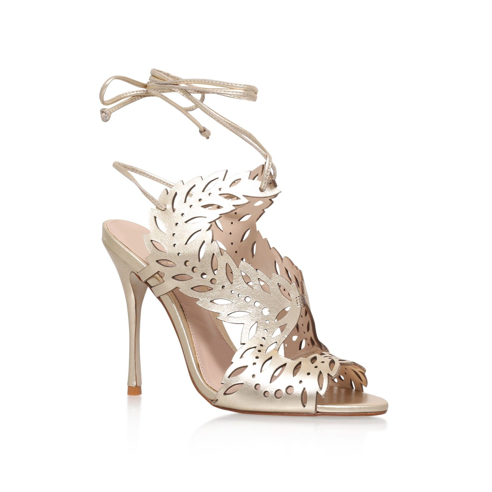 horatio gold high heel sandals from KG Kurt Geiger