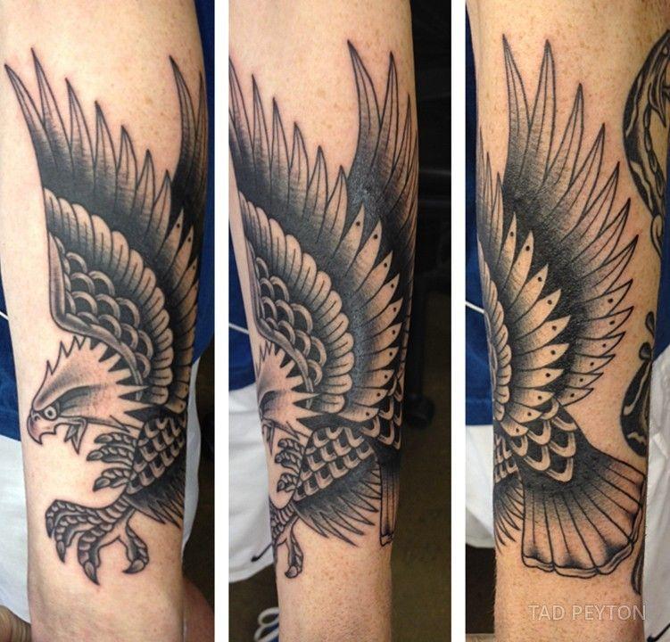 Black And Grey Flying Eagle Tattoo On Forearm Jpg 751 720 Pixels Tattoos Eagle Tattoo Forearm Traditional Eagle Tattoo