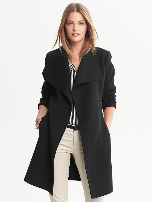 Banana Republic | Draped Wool Coat | My Style | Pinterest | Wool ...