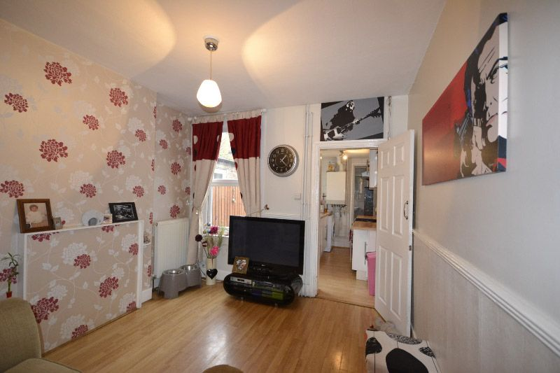 Lovely starter or family home which has a lovely newly refurbished bathroom.   Two large bedrooms offering lots of space. Two large front rooms with lovely decorated Laura Ashley wallpaper. Lovely back garden with a new shed.