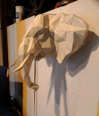 Pepakura elephant head