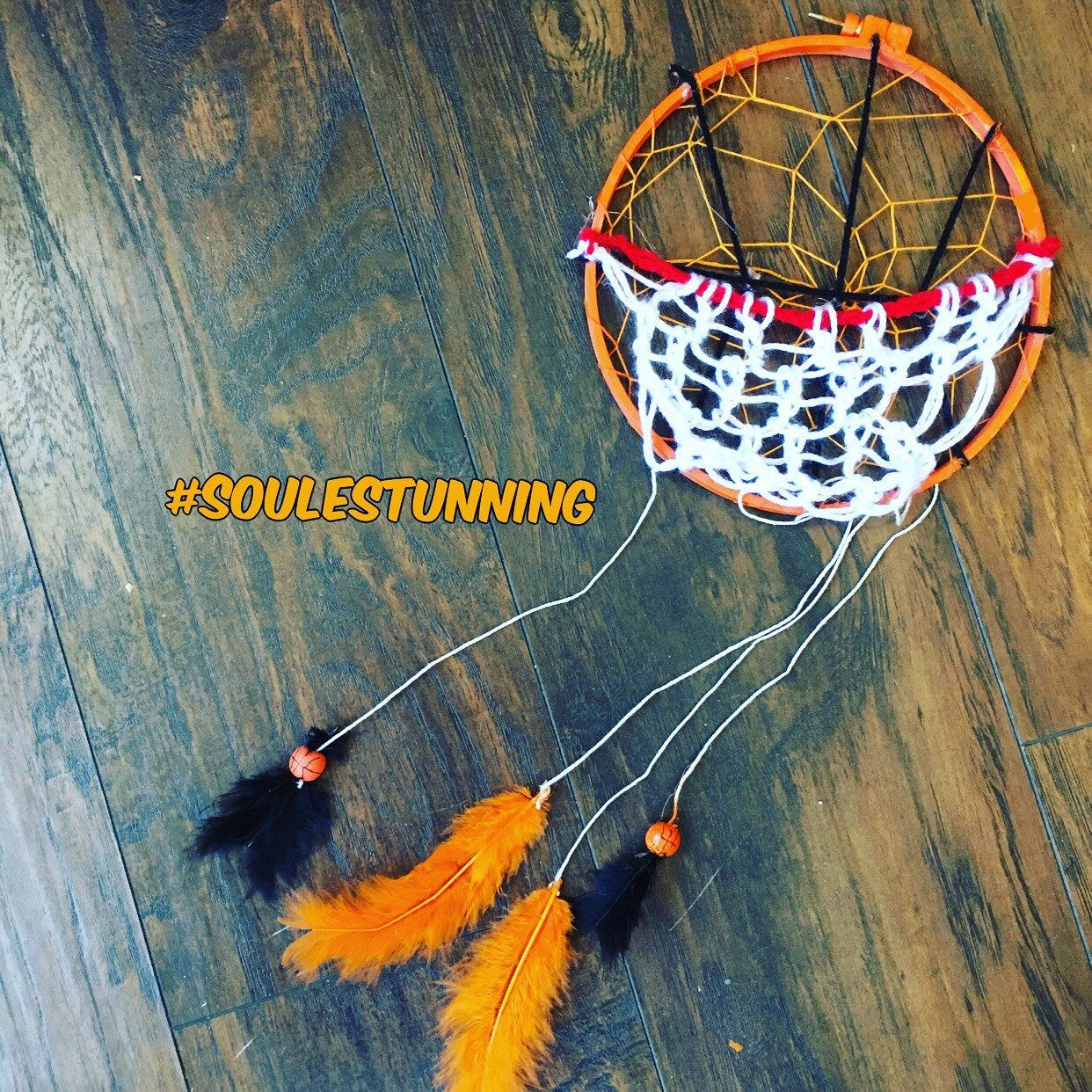 A personal favorite from my Etsy shop https://www.etsy.com/listing/511045584/basketball-dreamcatcher