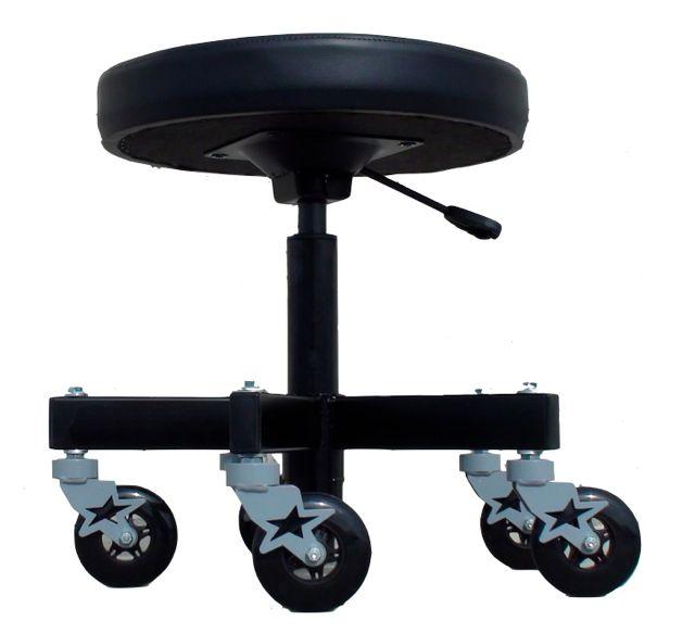 adjustable 5 leg industrial shop stool car guy garage car lifts industrial shop stool chair. Black Bedroom Furniture Sets. Home Design Ideas