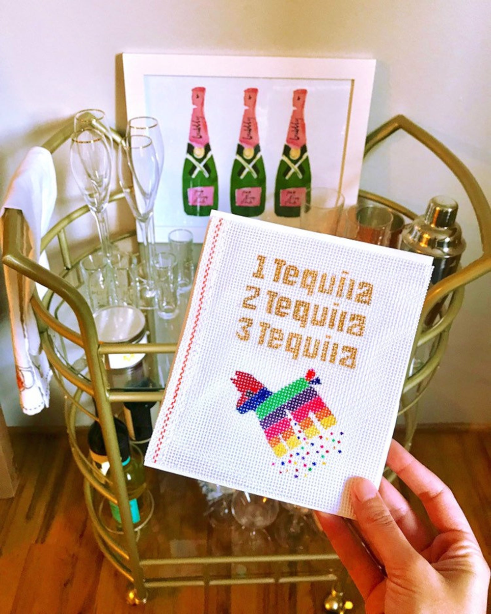 1 Tequila 2 Tequila 3 Tequila Floor Etsy In 2020 Needlepoint Needlepoint Canvases Tequila
