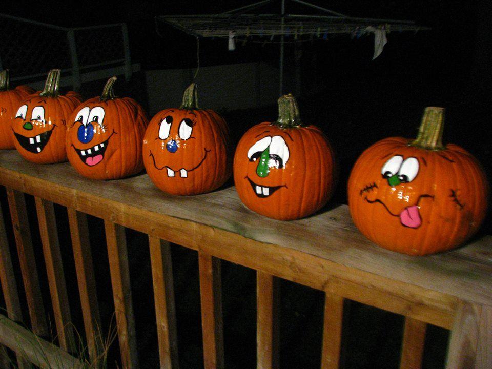 48+ Funny pumpkin designs painting ideas
