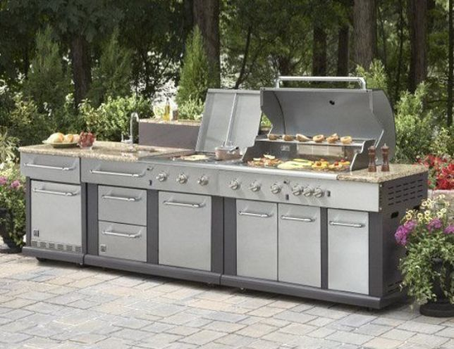 outdoor kitchen kits lowes  Outdoor Kitchen Kits