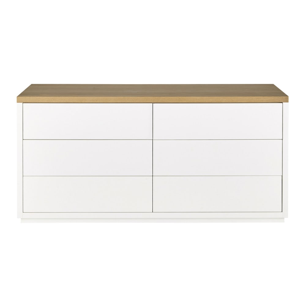 6 Drawers White Chest Avec Images Commode Blanche Commode