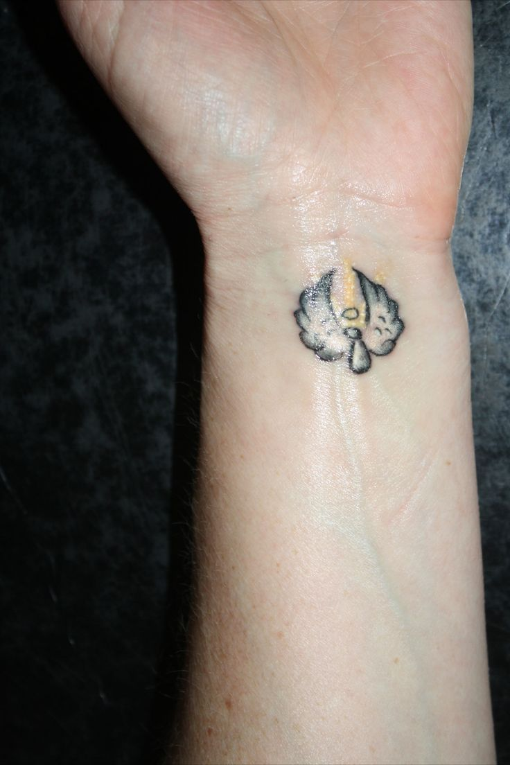 Tiny Flying Angel Tattoo On Wrist Ideas For Me Pinterest