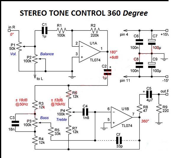 stereo baxandall tone control theodil pinterest electronics rh pinterest com