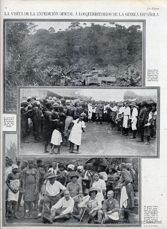 GUINEA ESPAÑOLA 1926 VISITA GENERAL NUÑEZ DE PRADO HOJA REVISTA - Foto 1