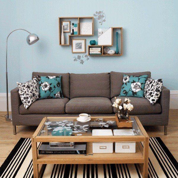 Wohnzimmer ideen braun blau  salon pintado celeste | depa PLAYA | Pinterest