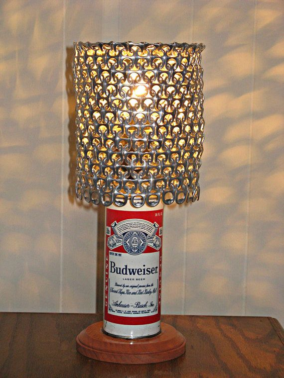 Vintage Budweiser Beer Can Lamp With Pull Tab Lamp Shade By Licensetocraft Lamp Budweiser