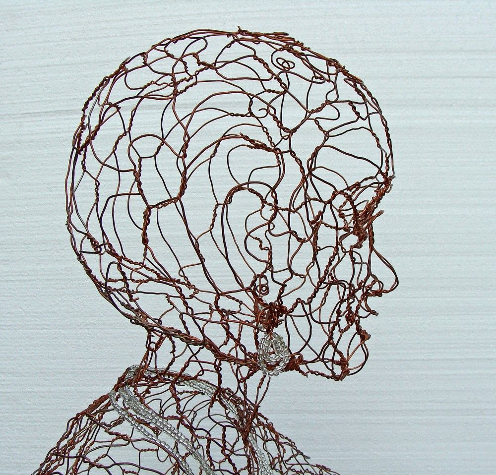 Copper Lady - Lifesize Wire Sculpture