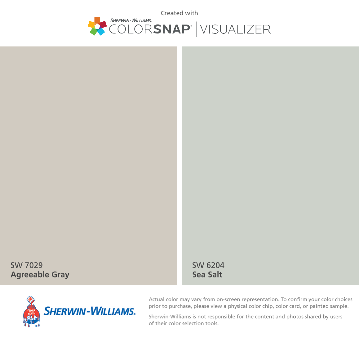 I found these colors with ColorSnap® Visualizer for iPhone by Sherwin-Williams: Agreeable Gray (SW 7029), Sea Salt (SW 6204). #sherwinwilliamsagreeablegray I found these colors with ColorSnap® Visualizer for iPhone by Sherwin-Williams: Agreeable Gray (SW 7029), Sea Salt (SW 6204). #sherwinwilliamsagreeablegray I found these colors with ColorSnap® Visualizer for iPhone by Sherwin-Williams: Agreeable Gray (SW 7029), Sea Salt (SW 6204). #sherwinwilliamsagreeablegray I found these colors with Col #sherwinwilliamsagreeablegray