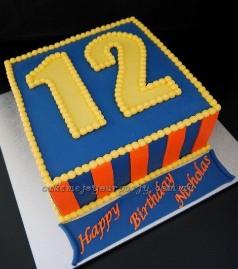 Boys 12th Birthday Cake