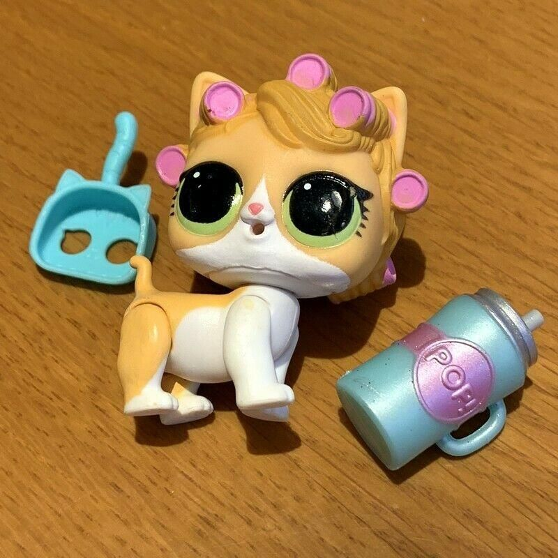 LOL SURPRISE PETS Series 4 Eye Spy KittyDoll Kitten Kitty Doll Cat Curlers sd