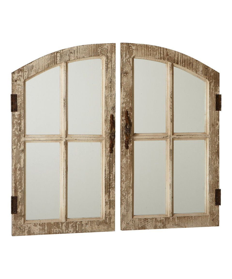 Window mirror decor  take a look at this midwestcbk distressed window pane wall mirror