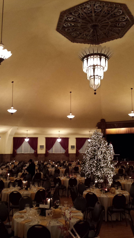 Beautiful large christmas tree in the center of the great hall at beautiful large christmas tree in the center of the great hall at the chandelier ballroom arubaitofo Gallery
