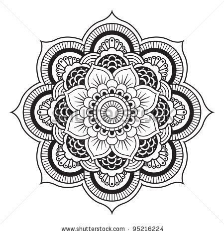 Ornamental Flowers Vector Set With Abstract Floral Elements In