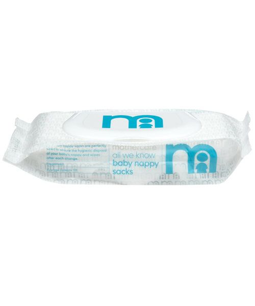 Mothercare All We Know Baby Nappy Sacks 100 Pack Bags