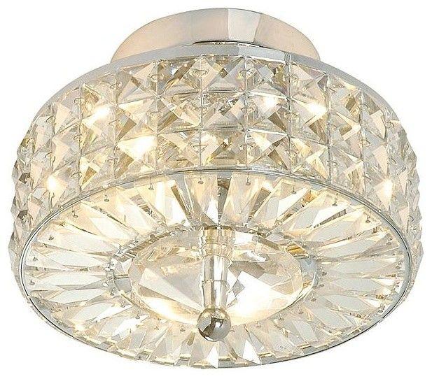 Bathroom Lighting Flush Mount flush traditional-flush-mount-ceiling-lighting chic crystal basket