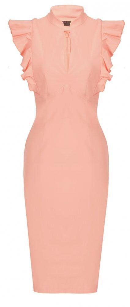 Hybrid Peach Frill Dress