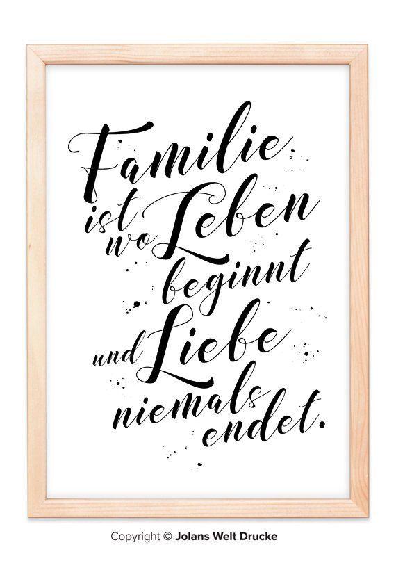 Familie Kunstdruck Von Jolanswelt Kunstdrucke Familie Spruch Zitat Schriftzug Weihnahten Zusammenhalt Lustig Kunstdruck Verschenken Familienbild