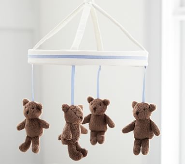 Light Blue Harper Bear Mobile #pbkids