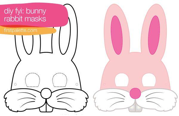 Bunny Rabbit Mask Printable Kids Easter Bunny Mask Preschool Easter Party Masks Diy Kids
