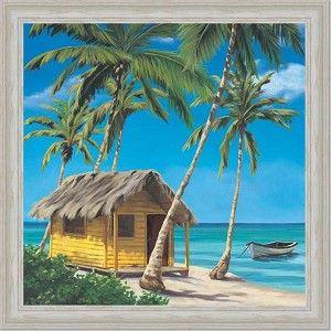 beach house paintings | Tropical Shack I Beach House Decor Art ...