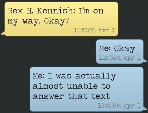 I was texting a friend right after reading The Fault in Our Stars and this is what happened
