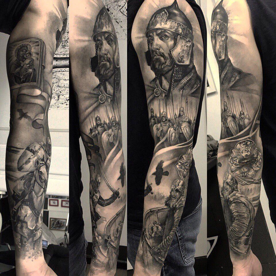 фото татуировок александр невский короткими