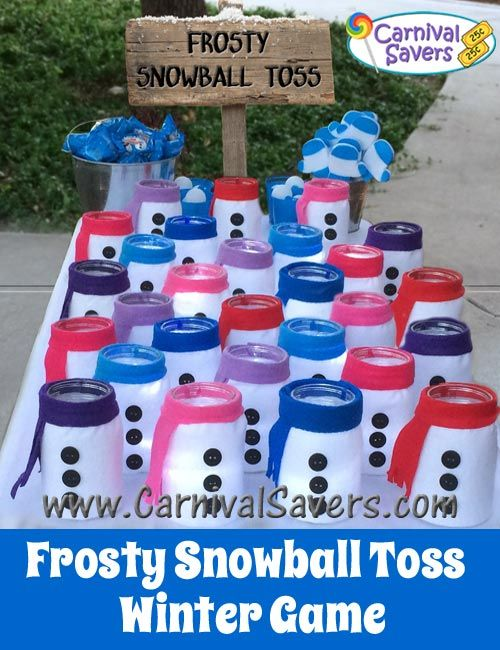 DIY Unique Winter Game Idea - Frosty Snowball Toss! Instead of ...