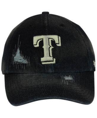 hot sale online b5c9e 00fc4  47 Brand Texas Rangers Dark Horse Clean Up Cap - Black Adjustable.