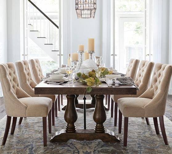 Lorraine Extending Dining Table Hewn Oak Potterybarn Farmhouse Dining Room Rustic Dining Room Stylish Dining Room