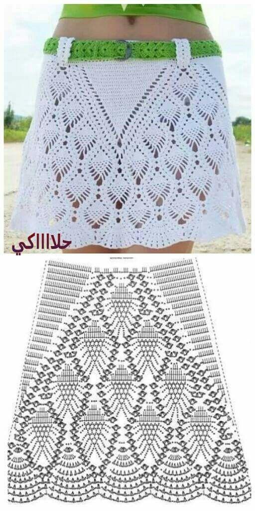 Pin by Vivian Haamer on Heegeldatud seelikud | Pinterest | Crochet ...