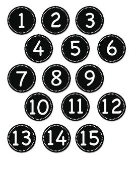 Green Circle Number Labels 1 - 30 | Circles, Number labels and Tags