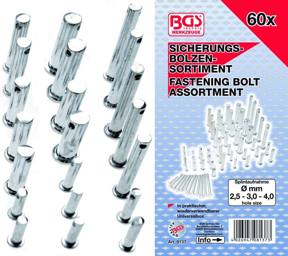60-tlg. BGS 8137 Sicherungsbolzen-Sortiment