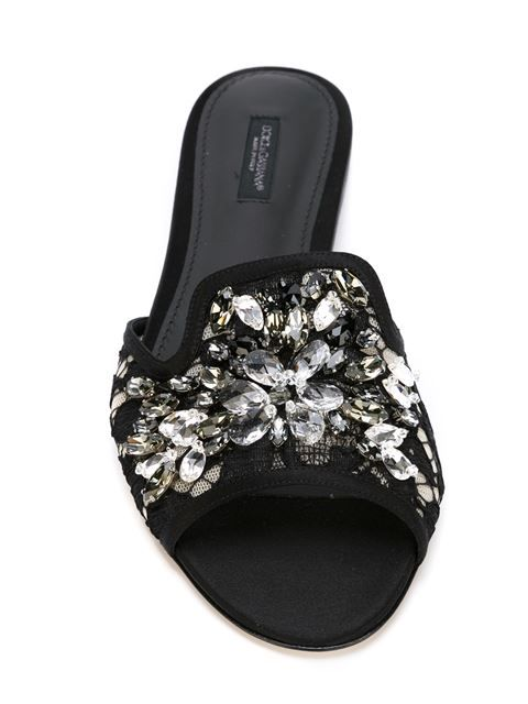 1f88c1be0 Shop Dolce   Gabbana embellished lace sandals in Tiziana Fausti from the  world s best independent boutiques at farfetch.com. Shop 400 boutiques at  one ...