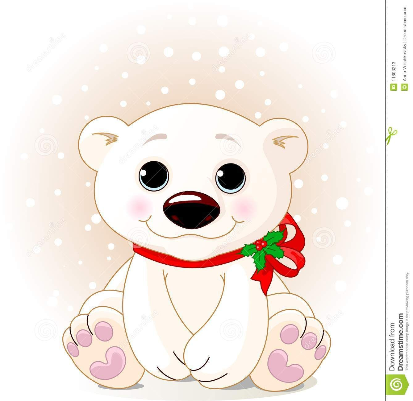 how to draw a cute baby polar bear