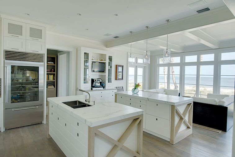 beach, modern kitchen, white | Cool Kitchens | Pinterest | Beauty ...