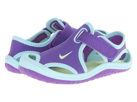 1232f7c5ca50 Nike Kids Sunray Protect (Infant Toddler) Purple Venom Glacier  Ice White Volt Ice - 6pm.com
