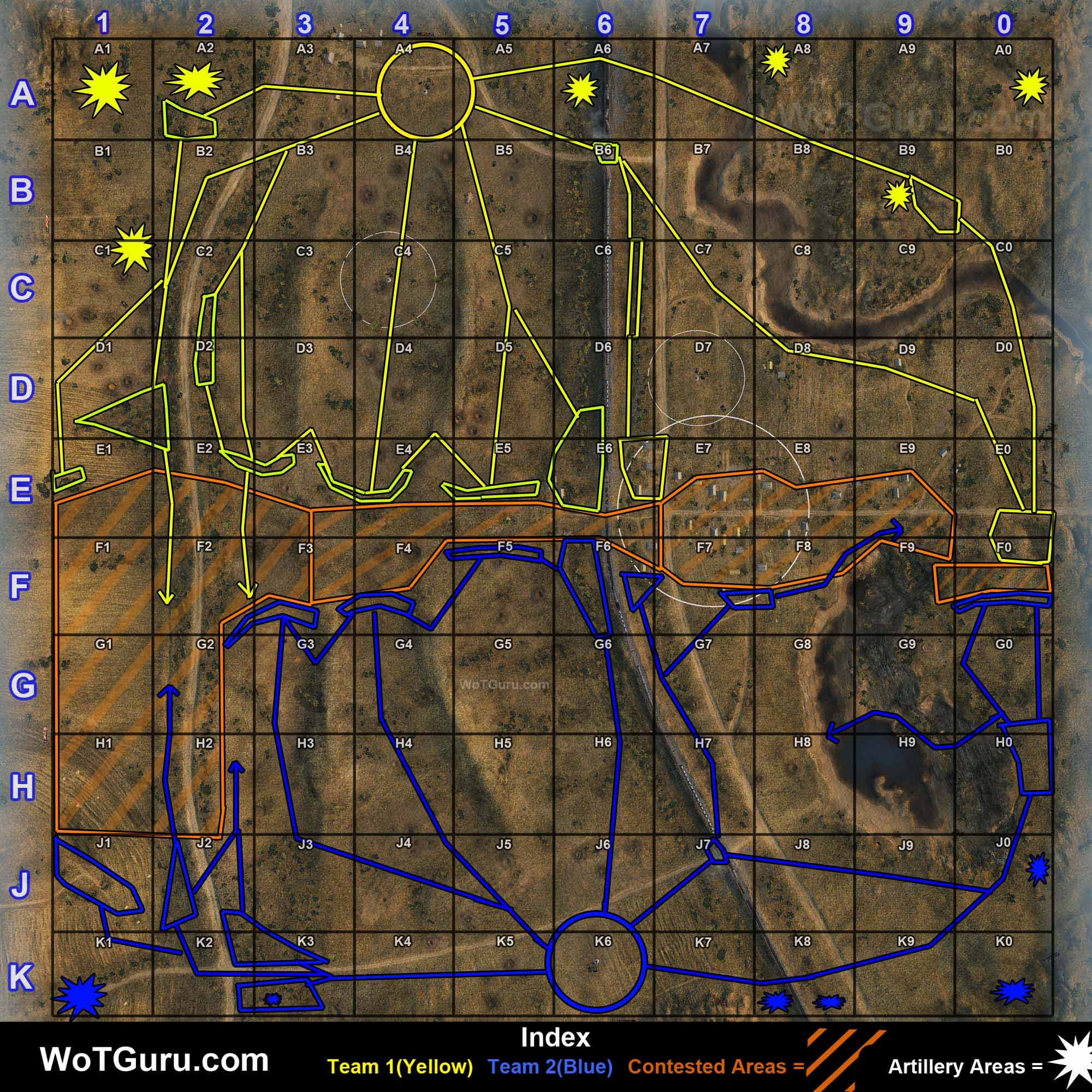 Mapstrategyfierysalient wot pinterest key this world of tanks fiery salient strategy guide provides key routes positions and tactics to use to excel on fiery salient in random wot battles gumiabroncs Choice Image