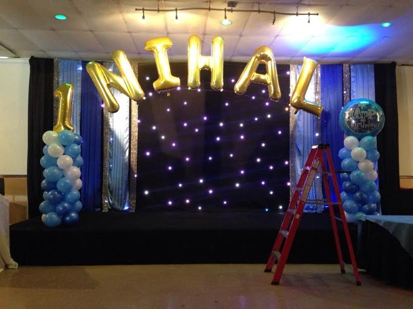 A Balloon Decoration For First Birthday At An Event In Toronto Area