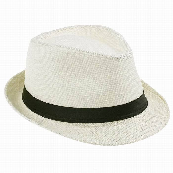 Child Summer straw Sun hat Boy Boho Beach Fedora hat Sunhat Trilby Girl Panama  Hat Gangster Cap with Handwork Good Pack 673c591467ab