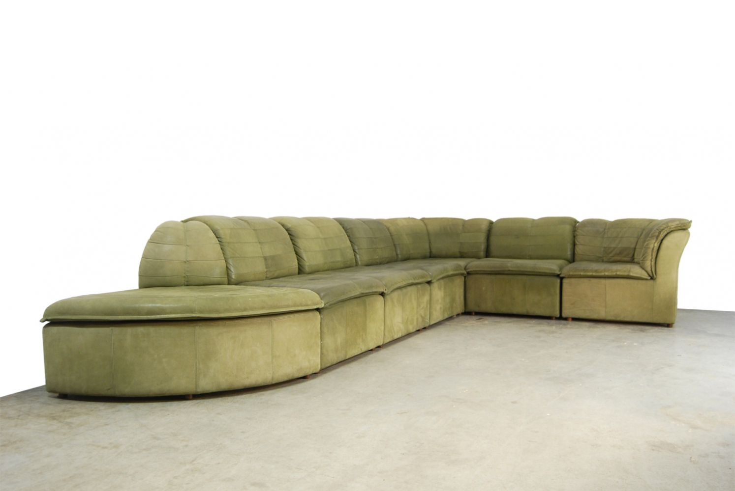 Brilliant Rare Mid Century Modular Nubuck Leather Sofa By Laauser Ocoug Best Dining Table And Chair Ideas Images Ocougorg